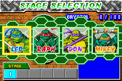 Teenage Mutant Ninja Turtles 2 - Battle Nexus - Character Select  -  - User Screenshot